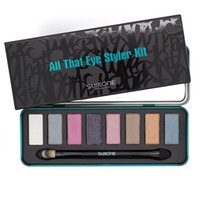 Cheap New Arrival 8 Colors Eyeshadow Palette Smoky Makeup Cosmetic Eye Shadow Palette Naked Make Up Women Box Kit With Brush