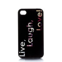 apple iphone live - Love Laugh Live Design Hard Plastic Mobile Phone Case Cover For iPhone S S C
