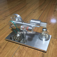Wholesale 2016 New Coming Hot Air Stirling Engine Model Generator Motor with LED Light LS003