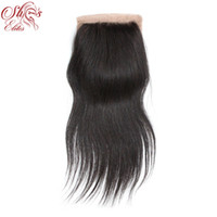 Wholesale Elites Hair Brazilian Virgin Hair Natural Straight Silk Base Lace Closure inch in stock quot x4 quot DHL