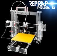 Wholesale 2015 Hot Full Acrylic Quality High Precision Reprap Prusa i3 LCD DIY d Printer Kit with KG Filament G SD card for Free