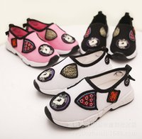 badge shoes - 2015 Summer New Style Kids Working Shoes With Badges Children Shoes Casual Fashion Ventilate Boys Girls Sport Shoes Pair T908