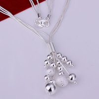 bead necklce - Necklace silver necklace silver fashion jewelry necklce beads jewelry eewq LN186
