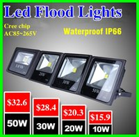Wholesale 2015 Hot Sales W W W W W Outdoor Waterproof Led Floodlights Warm Cool White IP65 Led Flood Lights AC V