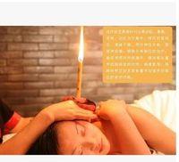 Wholesale Coffee Sandalwood Ear Candle Traditonal Indian Fragrance Ear Candle Massage Detox Beauty Help to Soft Wet Skin