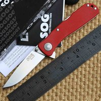 stainless steel hunting knife - 100 Real OEM SOG Twitch II G10 Stainless Steel Folding Knife AUS Blade Camping hunting knives EDC tool