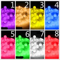 Wholesale LED String Lights Christmas Decorations Led Strip Outdoor Led Light New m Matte Ball Warm White LED String Wedding Party Fairy Christm