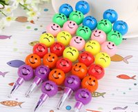 Wholesale Stationery Colorful WaterColor Brush Smiley Cartoon Pens Pencil Markers Children s Toys Gifts Watercolor pen colors DHL