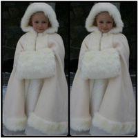 beauty capes - Beauty Cheap New Winter Child Cape Floor length Lovely Faux Fur Wraps for Children Hot sale Bridal Cloaks