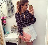 Cheap EVE DRESS office lady Plus Size Blusas Femininas Blusa De Renda Polka Dots Vintage Blouse Long Sleeve Women Blouse