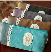 Pencil Bag pen pouch - New Lace style fabric Pencil bag pen Cosmetic pouch