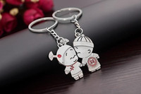 Wholesale NEW Wedding Keychain Lovers Keychain Chinese wedding Kids style Stainless alloy steel Key Chain High Quality Keychain by DHL