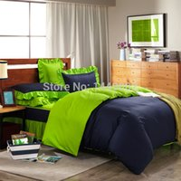 bedskirts for queen beds - European Style Bedding Sets Cotton Navy and Green With Bedskirts Duvet Cover Pillowcase For Full Queen Size