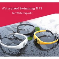 fm bluetooth sunglasses - New Fashion Brand IPX8 Waterproof G Memory Headset MP3 Music Player with Fm Radio for Swimming Sports