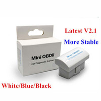 Wholesale Super Mini Bluetooth ELM Hardware V2 OBD2 Scan Tool ELM327 White Blue Black Optional With Retailing Box