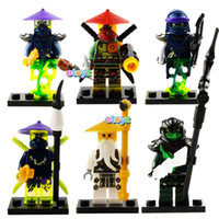 Wholesale Christmas Gift No Box High Quality Ninja Wu Morrd Ronin Acher Cowler Mini Figures Building blocks