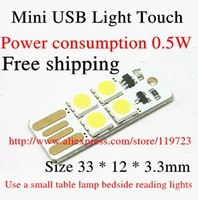 Wholesale With touch USB Mobile Power USB lamp lights led lamp night light plugged V computer use with touch switch