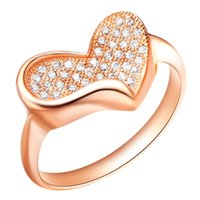 amethyst ring gold vintage - 2015 Sale New Patines Heart Women Rings Clear Cz Diamond Vintage Jewelry Rose Gold Ring Joyas Micro Pave Anel Ouro White Love Anillos J136