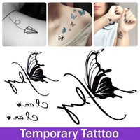 artistic lips - Artistic Butterfly Temporary Tattoo Sexy Fashion Designs Temporary Stickers Waterproof Tatoo Paint Tattooing Sticker Butterfly