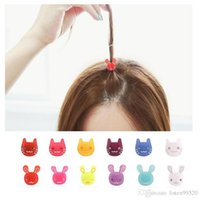 Wholesale 2015 Fashion Hairpin Hair Head Ornaments Mini Cat Rabbit Round Buckle Clip Hairpin Hair Accessories Headdress Clamps Girlfriends Party Gifts