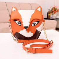 Wholesale UPS Fedex Free ship girl fashion fox day packs young lady three dimensional cute fox pattern bags Shoulder bag