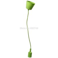 Wholesale 98 mm Modern Silicone Bar Loft Ceiling Pendant Light Lampshade Candy Color Lamp Shade order lt no track