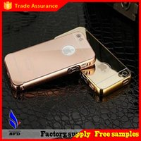 Wholesale Luxury Acrylic Mirror Aluminium metal Bumper Case For iPhone S Plus S galaxy S3 Grand Prime G530 S6 S7 edge A5 A3 A8 note