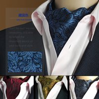 Wholesale High quality brand scarves mens suit neck ties ascot cravat collar point polyester wedding party silk scarves neckerchief new arrivel