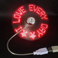 Wholesale Hot Mini Flexible Gooseneck USB LED Temperature Fan for PC Notebook Laptop BL