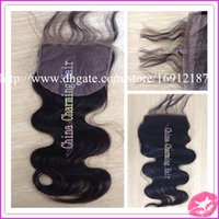 Cheap Brazilian Hair silk base closure Best Natural Color Body Wave silk base lace closure