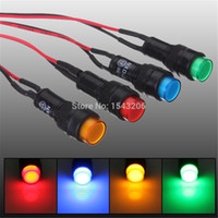 Wholesale MM CAR VAN BOAT LED Bulb INDICATOR Instrument DashBorad PANEL WARNING LIGHT LAMP V KIT small order no tracking