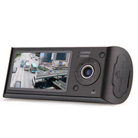 Wholesale car dvd New quot LCD Car Dual Lens DVR Camera Video Recorder Full Hd Degree Wide Angle GPS Logger Camcorder