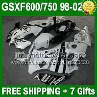Wholesale 7gifts For SUZUKI KATANA Scorpion white GSXF600 GSX750F J672 GSXF black white Fairing