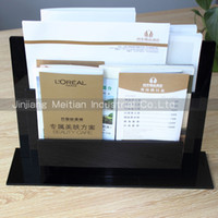acrylic brochure - Acrylic vertical leaflet and brochure display file holder document stand
