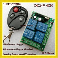 Wholesale DC V Way Relay Remote Switch A Relay Receiver Transmitter mhz Learning code ASK for Smart Home RM2 RM pro