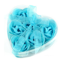 Wholesale Heart shaped Rose Flowers Soap Soap Craft Soap Flower valentine s day gift in A Nice Box Wedding Gift