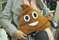 Wholesale Cushion Emoji Pillow Gift Cute Shits Poop Stuffed Toy Doll Christmas Present Funny Plush Bolster Pillows EMS Free