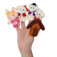 bear toy story - Story telling Finger Puppets Pieces pack Goldilocks the Three Bears quot Nursery Rhyme Fairy Tale kids cloth toys dolls Hand Puppets