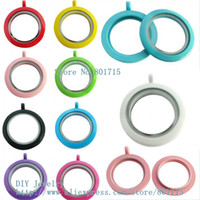 alloy paint colors - paint floating lockets plain mm mixed colors Round twist threaded screw top locket fit charms could make necklace keychain