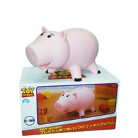 Wholesale Toy Story Hamm Piggy Bank Pink Pig Coin Box PVC Model Toys For Children Cute Coin Bank D6680