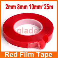 Wholesale 5pcs Strong Acrylic Adhesive PET Red Film Tape Clear Double Side No Trace Tape For Phone Tablet LCD Screen Glass Repair Tool