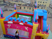 Wholesale Inflatable castle inflatable slide inflatable bouncer Princess Castle YLY