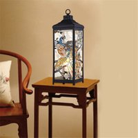 lamps stained glass - E27 Traditional Table Lamp Wrought Iron Glass Two Peafowls Hand Painted Lamp Modern Unique Bedroom Study Lighting