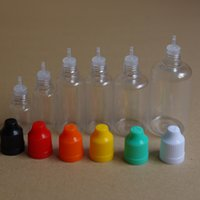 Wholesale 5ml ml ml ml ml ml Empty Plastic Dropper Bottle Childproof Cap PET Plastic Bottle Thin Long Tip e cig E Liquid Bottle