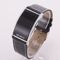 arch digital - New Fashion Luxury Brand Unisex Men Women Arch Bridge Style LED Digital Date Faux Leather Strap Wrist Watch Wristwatch