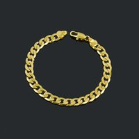 Wholesale 2015 new arrival Infinity Bracelets k Yellow Gold Filled Mens Bracelets Chain Link jewelry