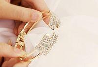 Wholesale hot new Popular lady fashion diamond bracelet Rhinestone Jewelry lady fashion diamond bracelet Rhines Bracelets Christmas Jewelry cuff