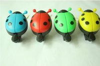 Wholesale cute Bicycle Bell Beetle Bell Plastic Metal maximum diameter cm Mountain Bike Horn Cycling Parts Bike Accessories