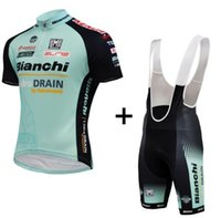 bianchi road - 2015 bianchi men breathable Cycling Jersey Sets Short Sleeve With Padded Bib Pants Road Biicycle Wear High Quallity