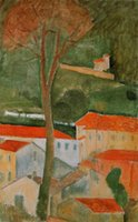 amedeo modigliani paintings - Amedeo Modigliani decoration oil painting Landscape famous artist reproduction